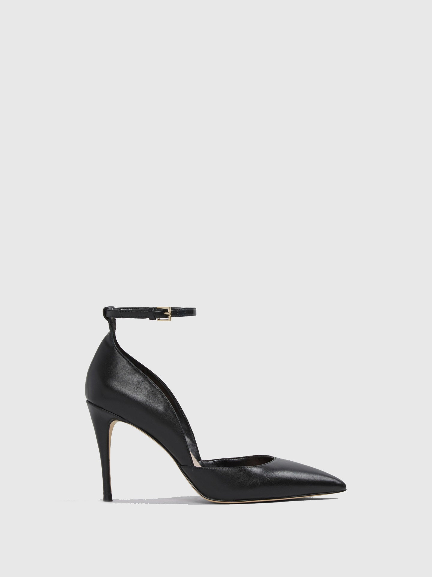 Aldo Black Ankle Strap Shoes