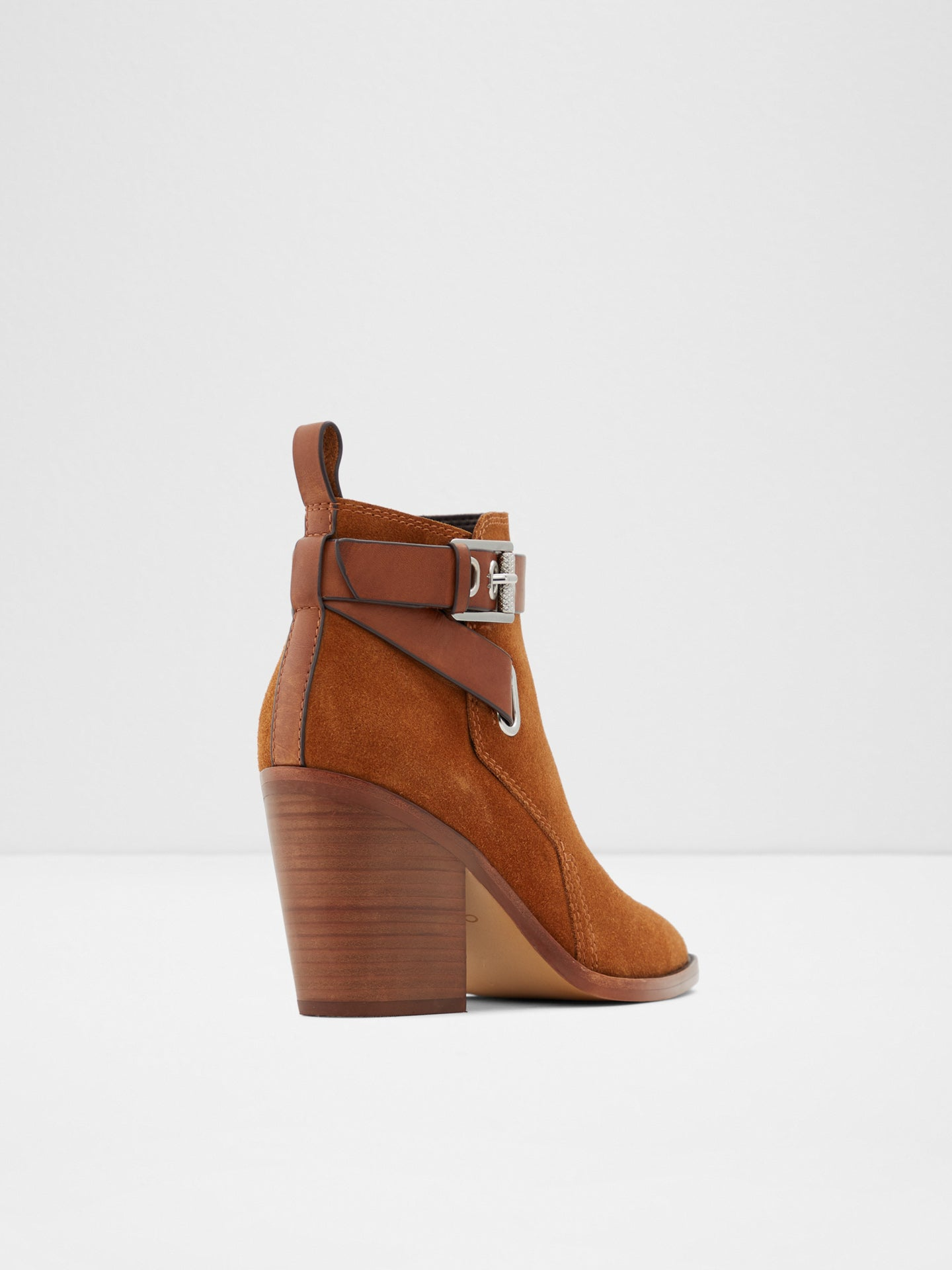 Aldo Camel Zip Up Ankle Boots