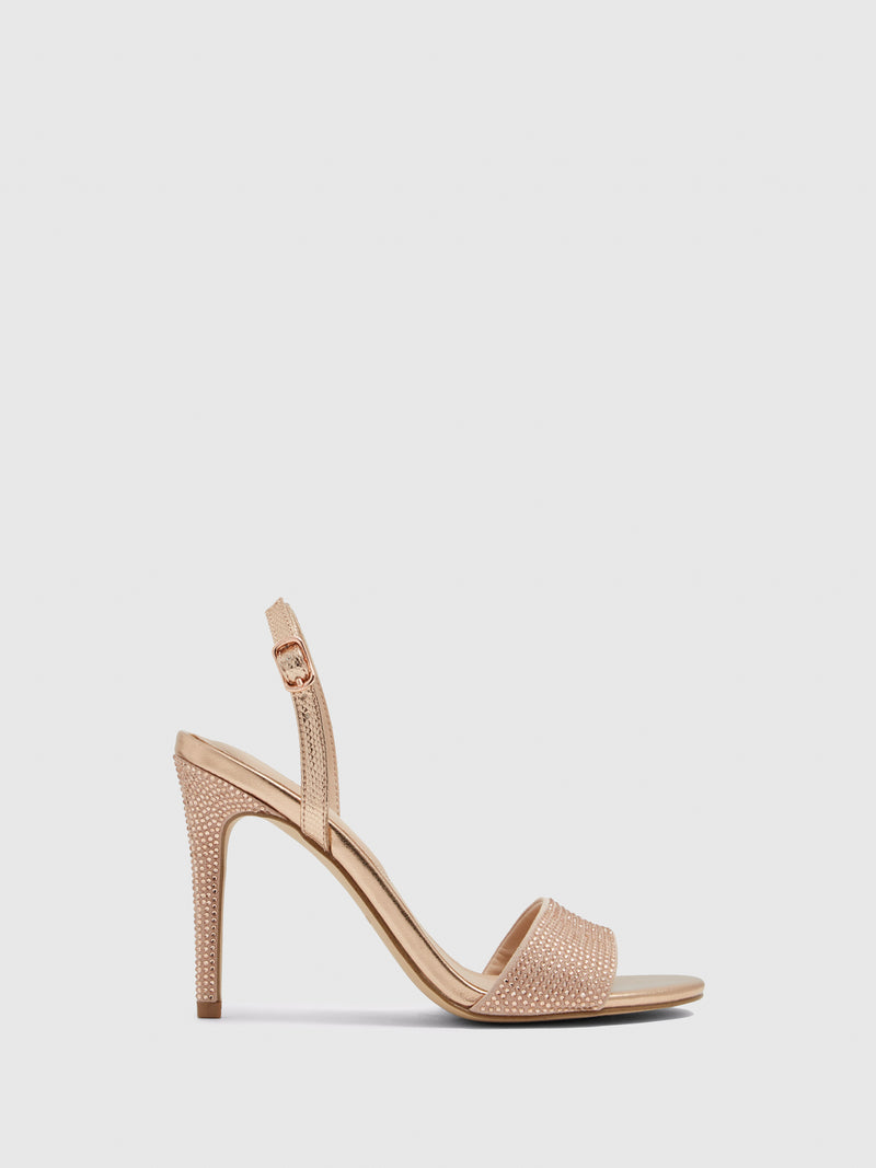 RoseGold Sling-Back Pumps Sandals