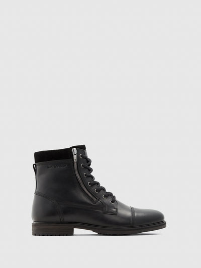 Aldo Black Zip Up Boots