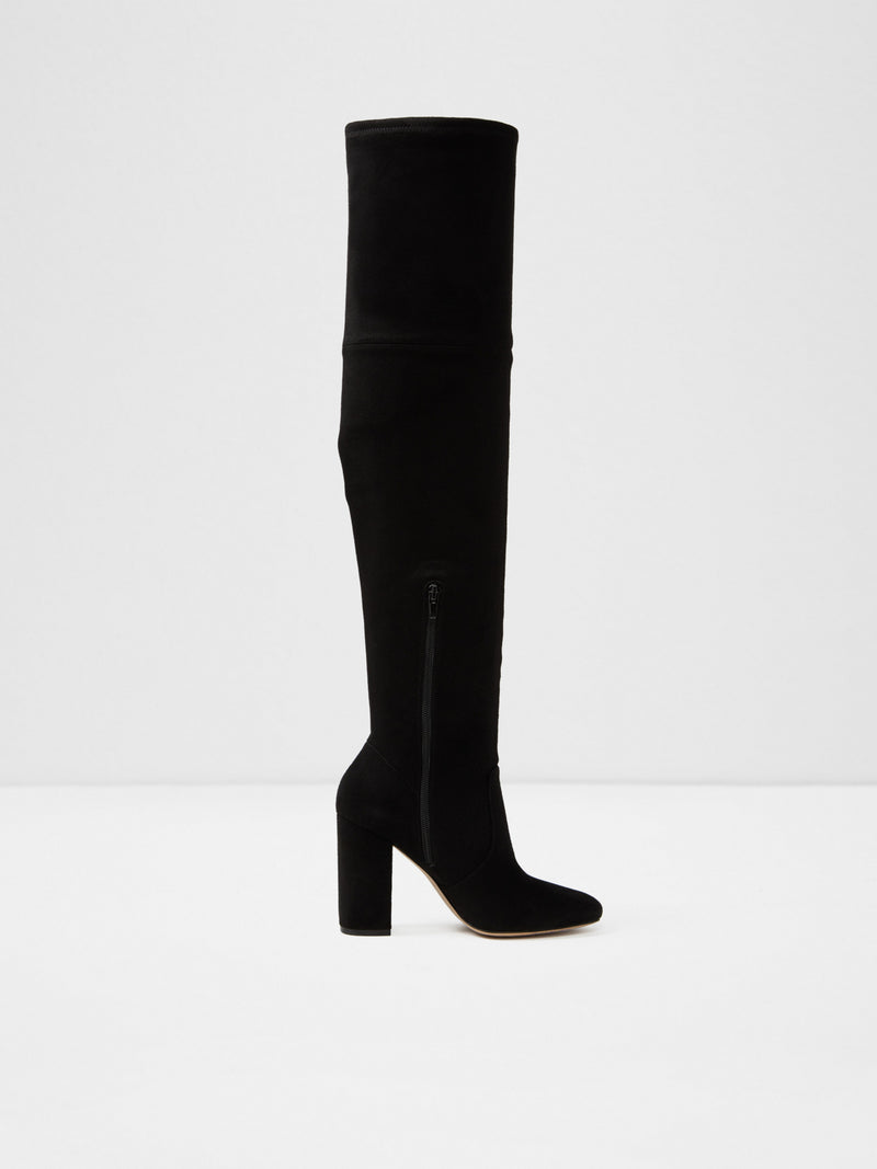 Black Suede Over the Knee