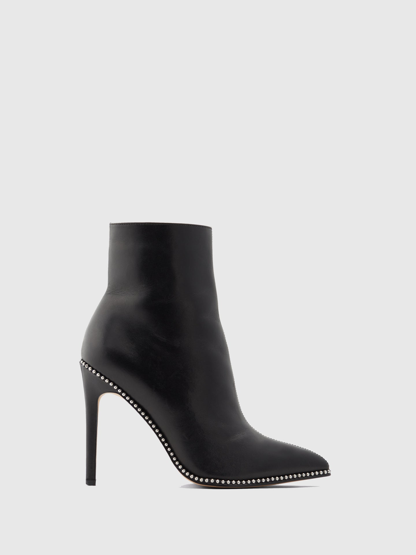 Aldo Black Leather Stiletto Ankle Boots