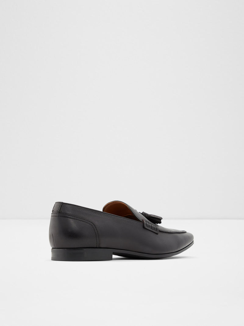 Aldo Black Leather Loafers Shoes