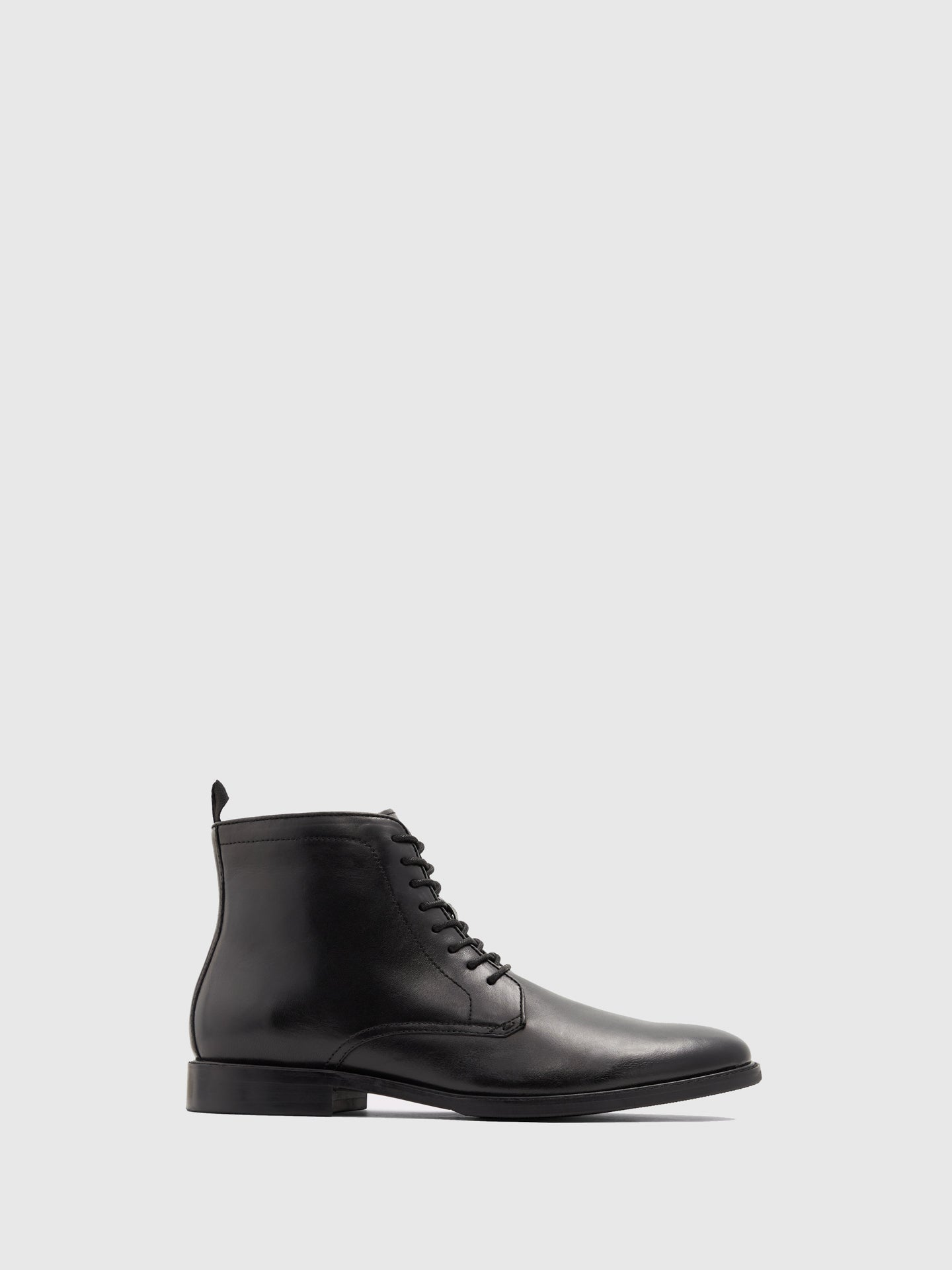 Aldo Black Leather Lace-up Ankle Boots