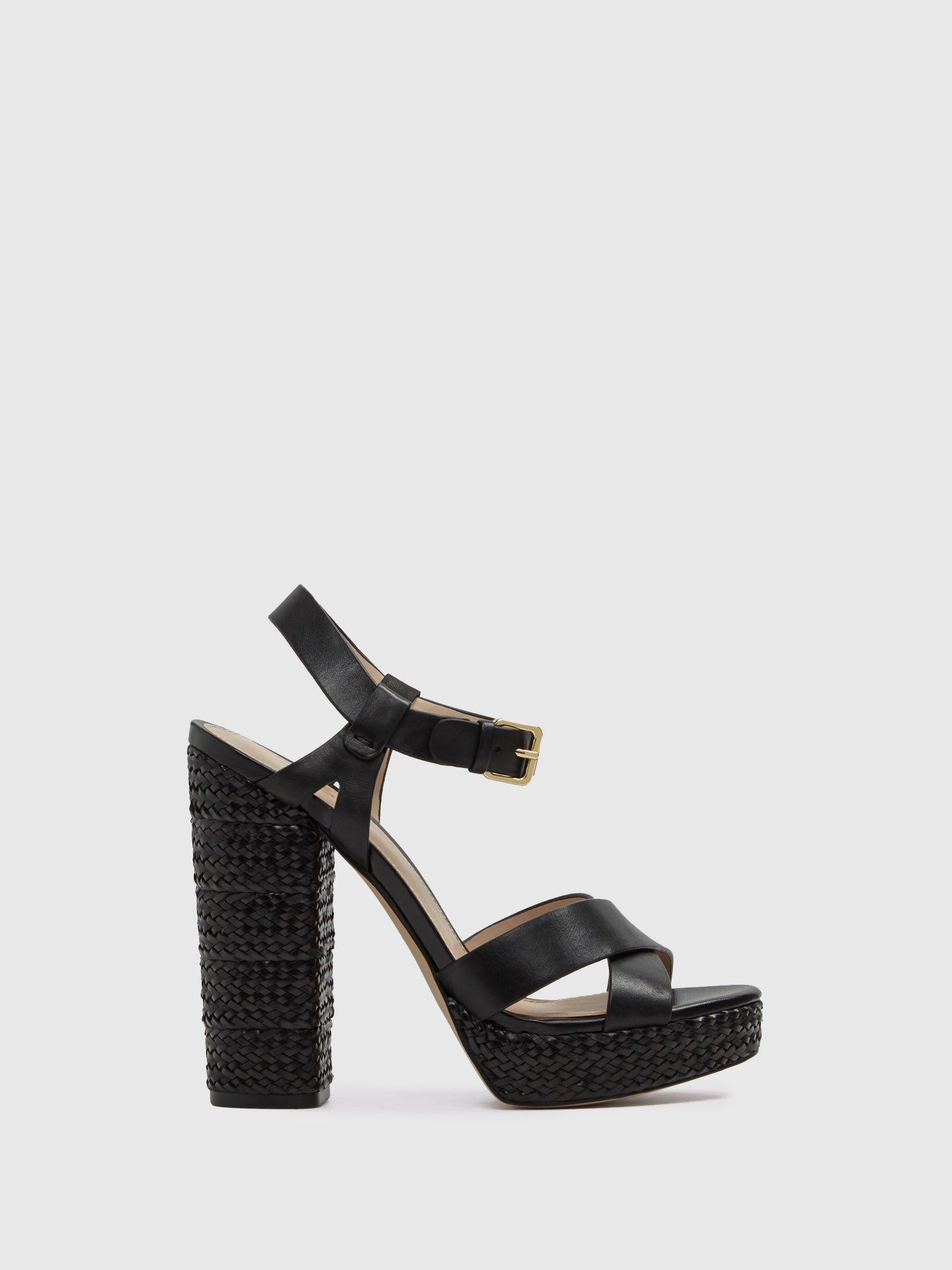 Aldo Black Sling-Back Pumps Sandals