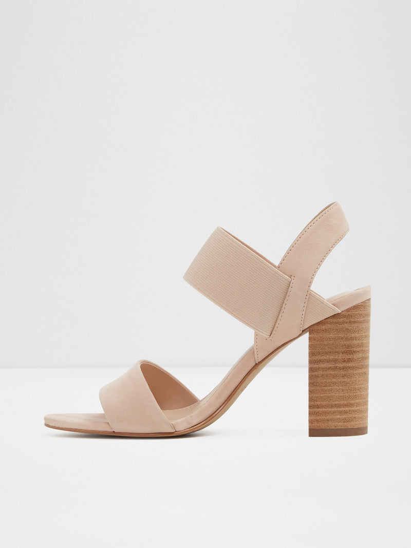 Beige Sling-Back Pumps Sandals