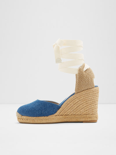 Aldo Blue Wedge Sandals