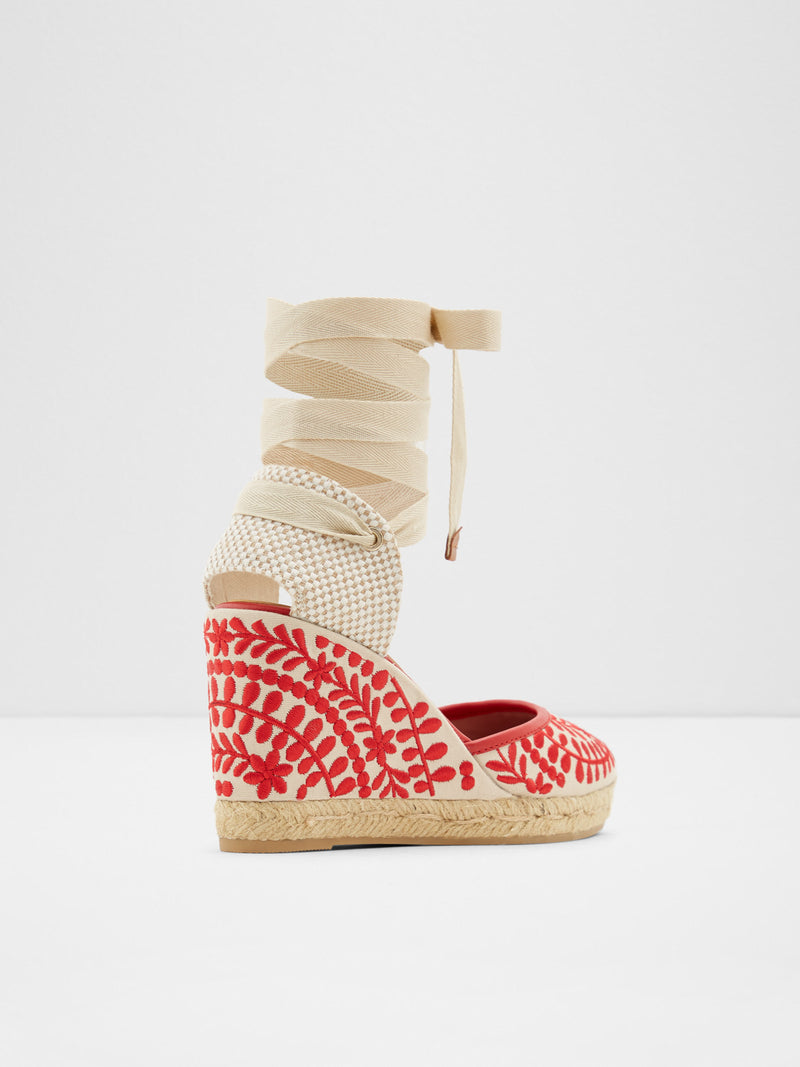 Red Wedge Espadrilles