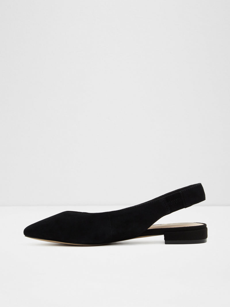Black Sling-Back Ballerinas