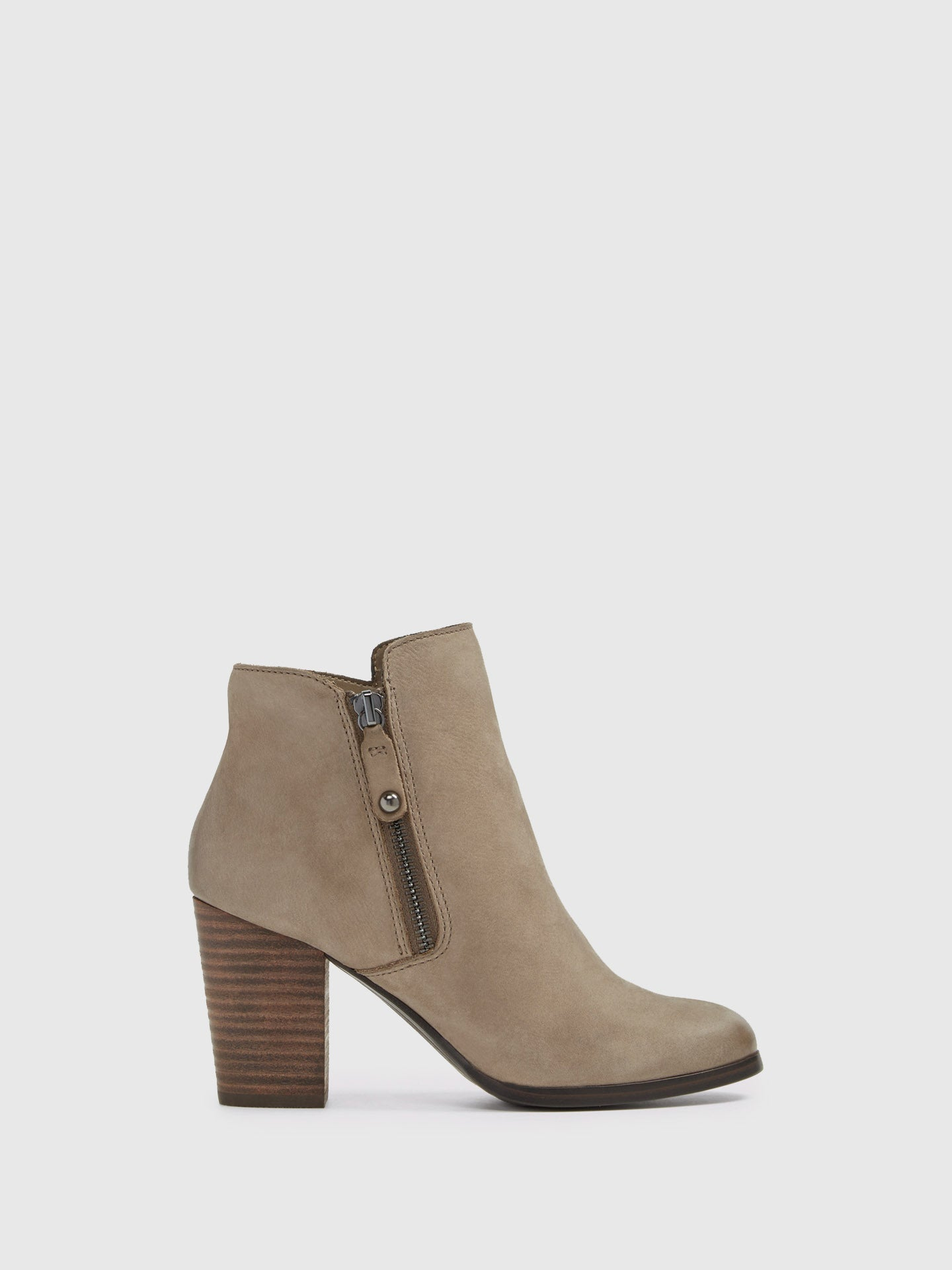 Aldo Gray Zip Up Ankle Boots