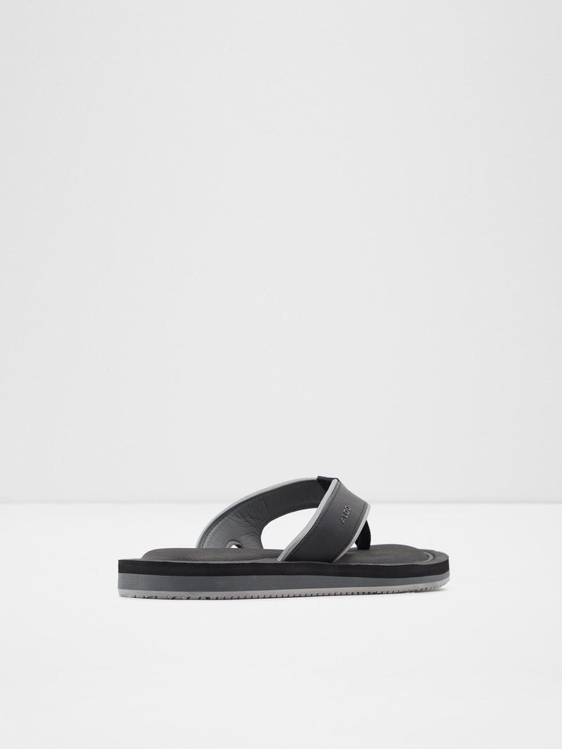 Black Casual Flip-Flops