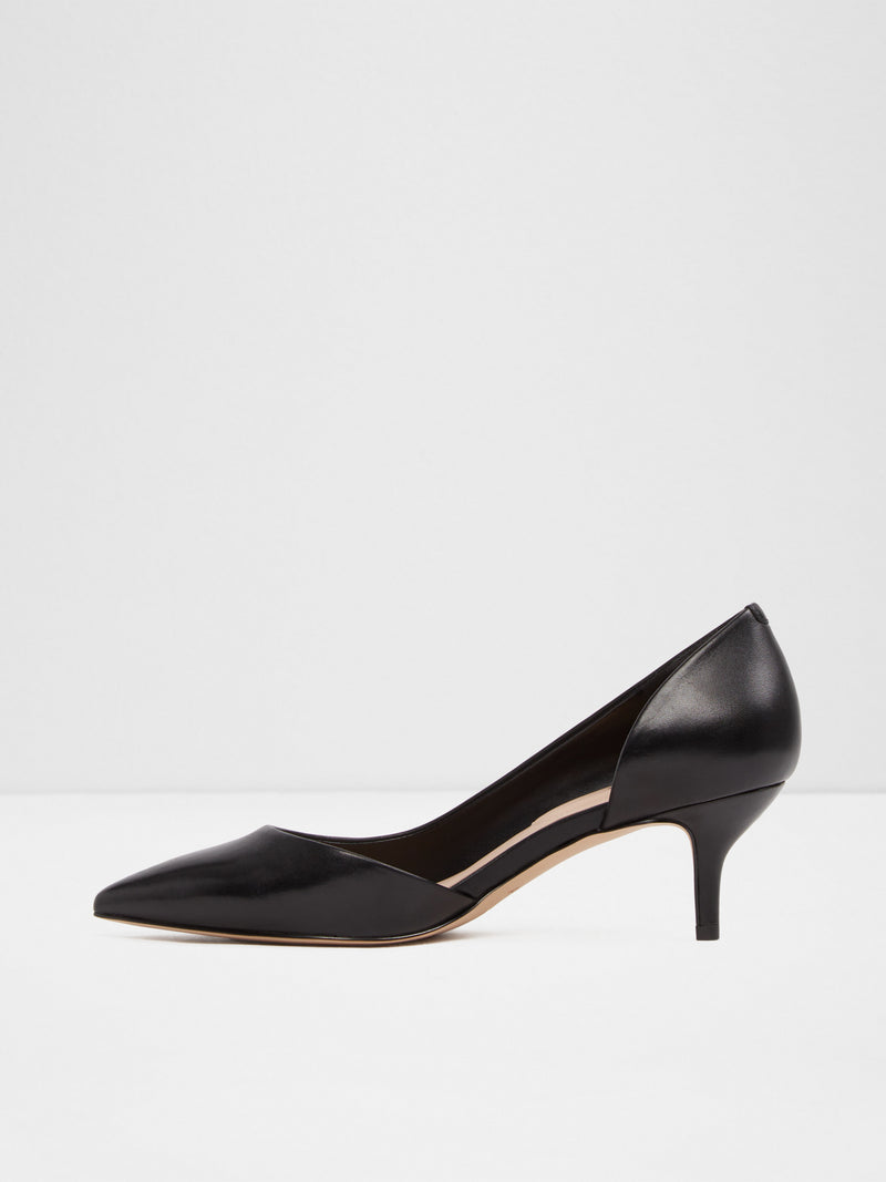 Aldo Black Kitten Heel Shoes
