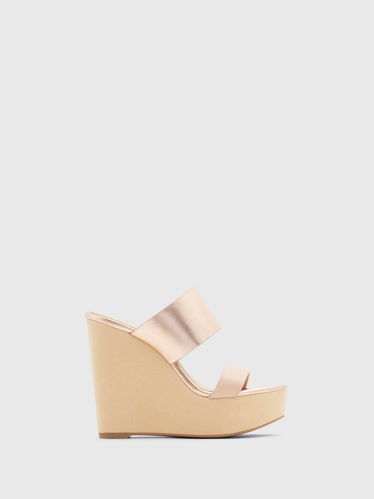 Aldo RoseGold Wedge Sandals