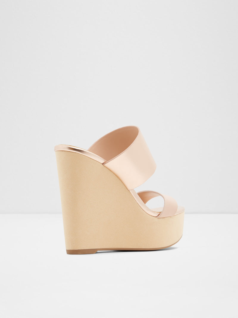 RoseGold Wedge Sandals