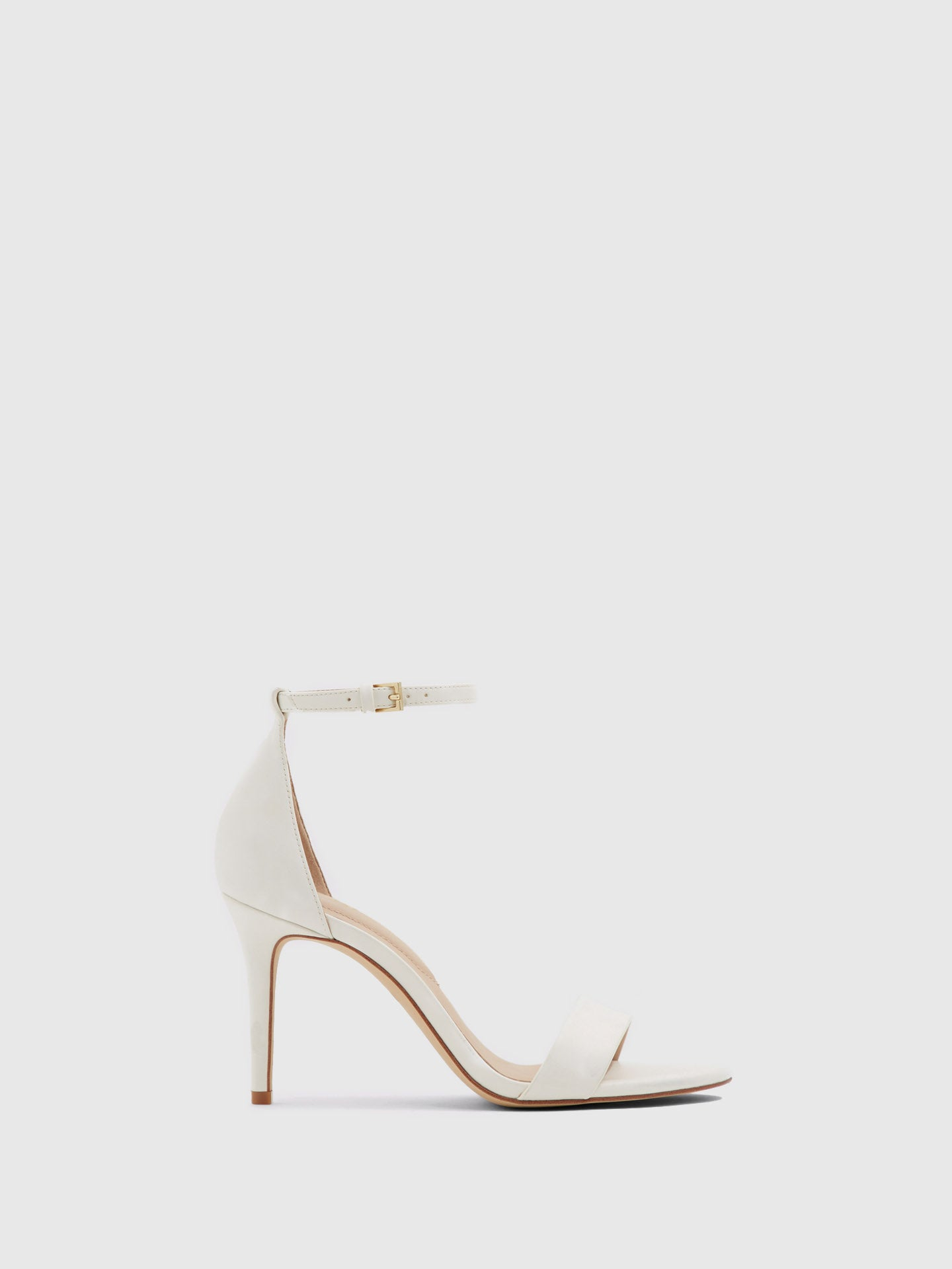Aldo White Ankle Strap Sandals