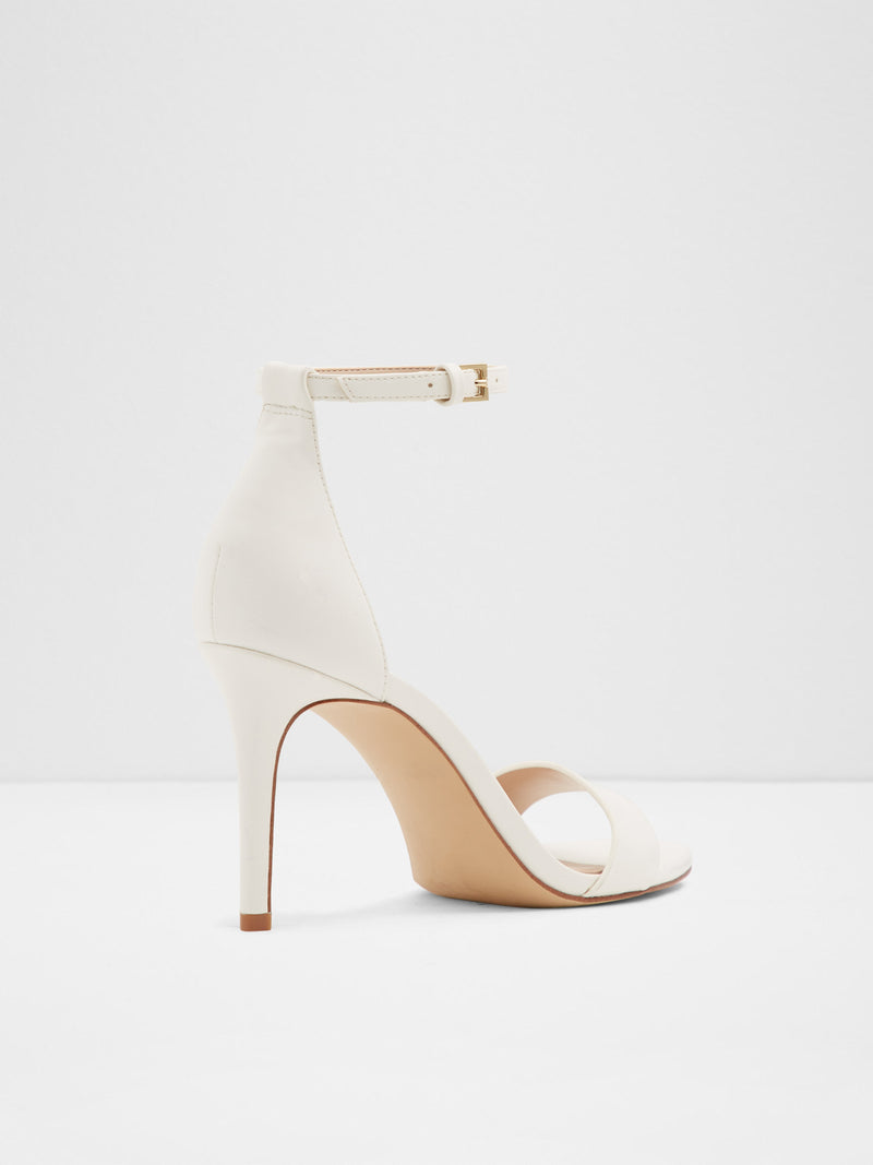 White Ankle Strap Sandals