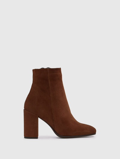 Aldo Brown Zip Up Ankle Boots