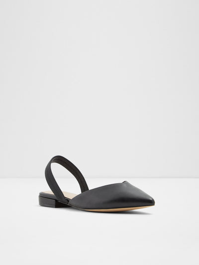 Aldo Black Leather Pointed Toe Shoes
