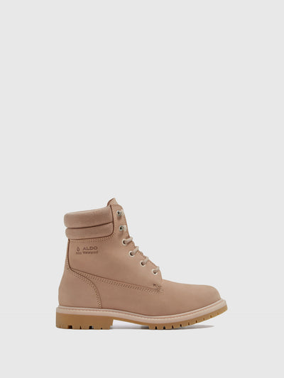 Aldo LightPink Lace-up Boots