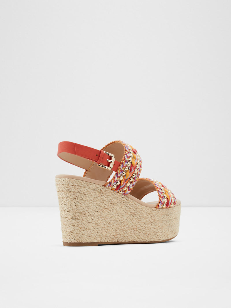 Multicolor Wedge Sandals