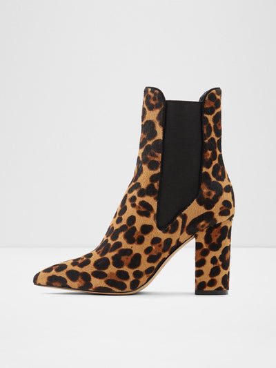 Aldo Brown Black Elasticated Ankle Boots