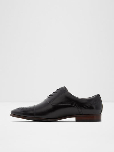 Aldo Black Leather Lace-up Shoes