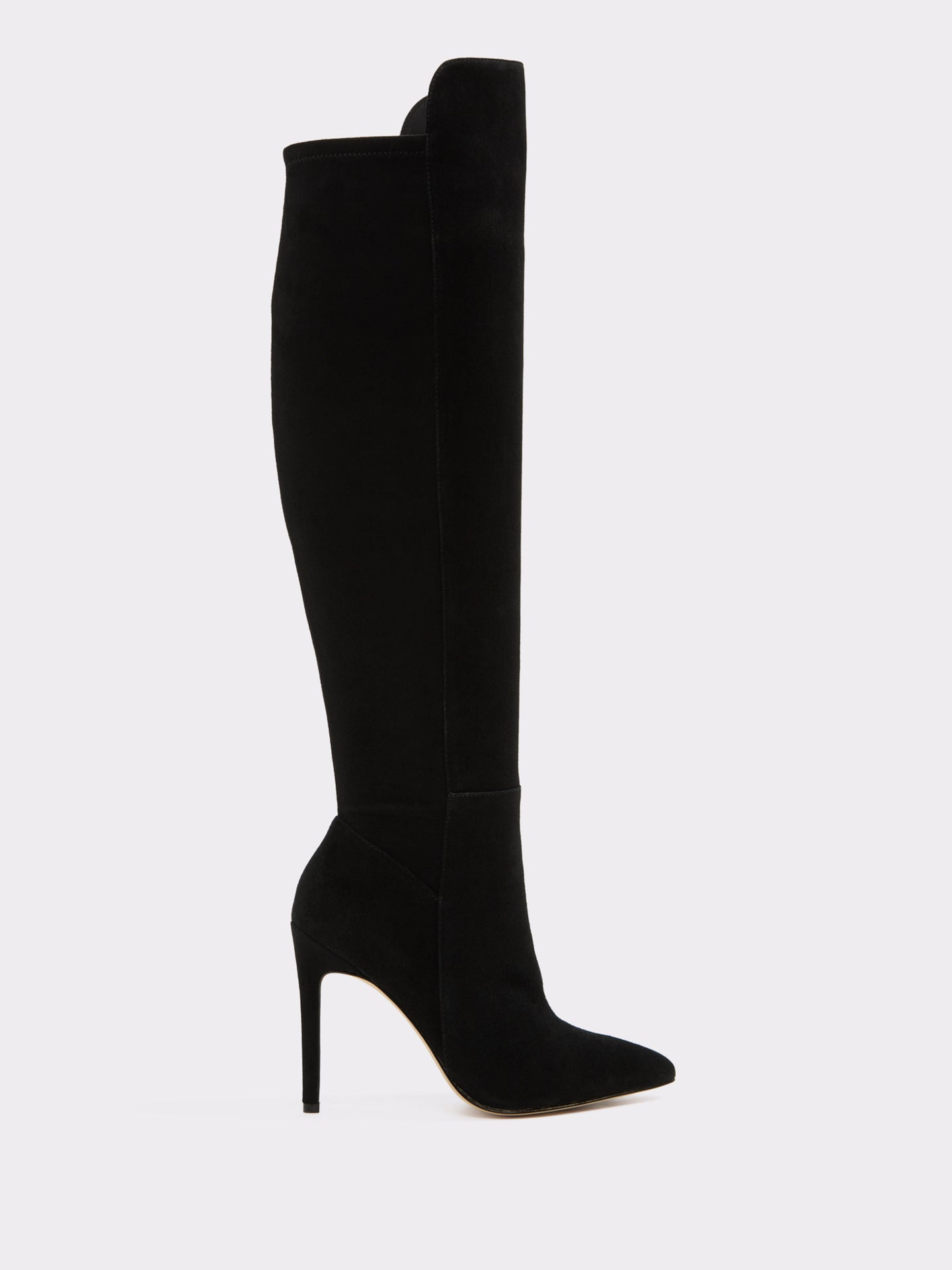 Aldo Black Suede Knee-High Boots
