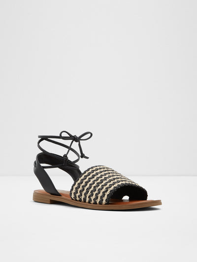 Aldo Black White Gladiator Sandals