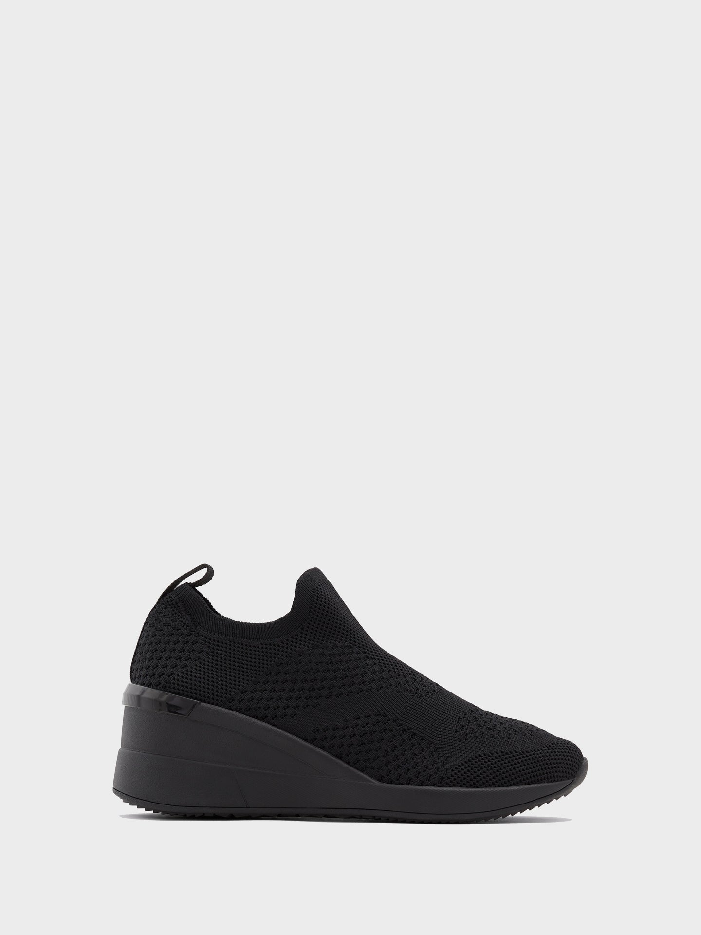 Aldo Black Round Toe Trainers
