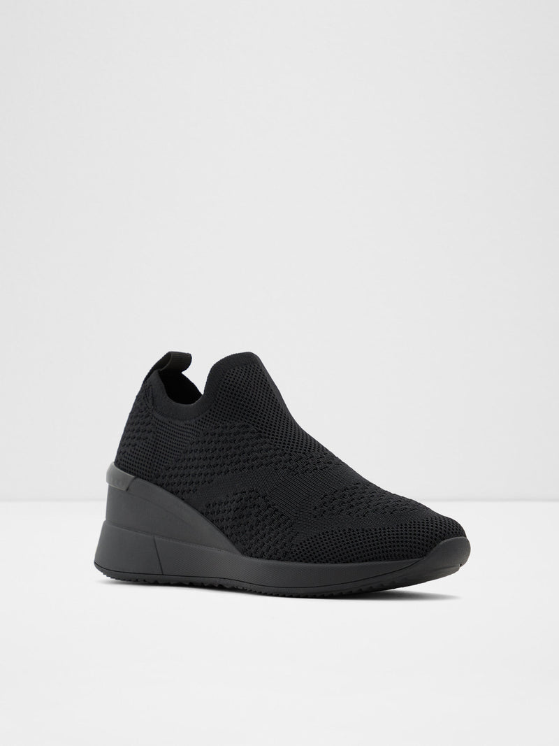 Black Round Toe Trainers