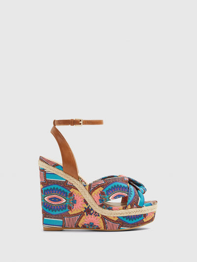 Aldo Multicolor Wedge Sandals