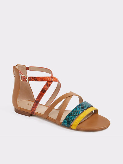 Aldo Multicolor Crossover Sandals