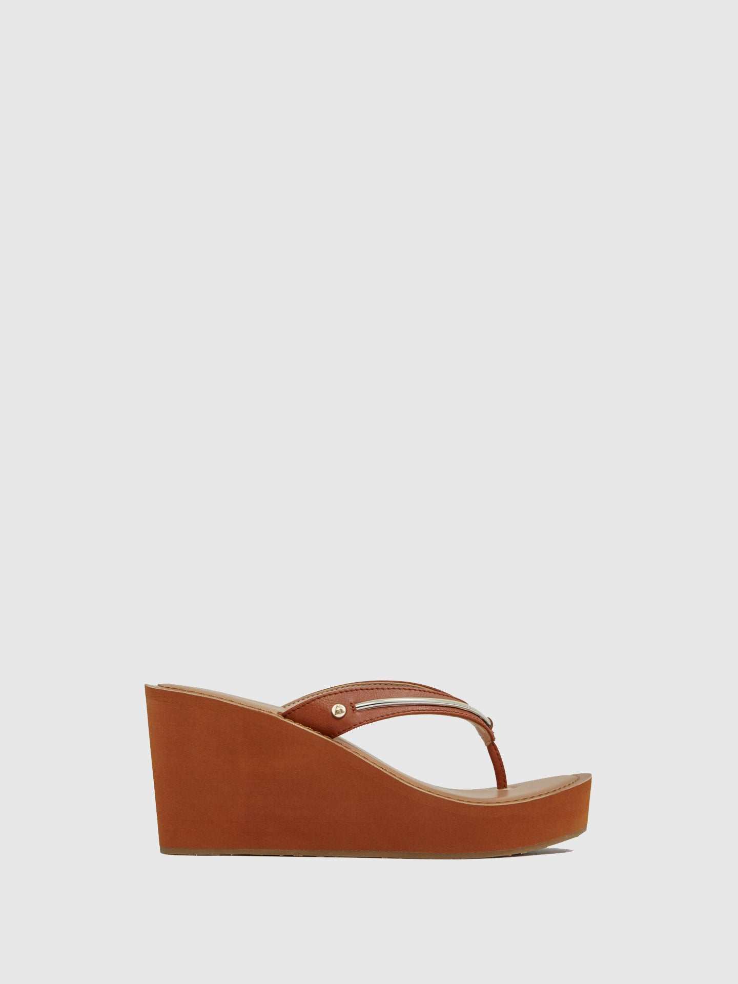 Aldo Maroon Wedge Sandals