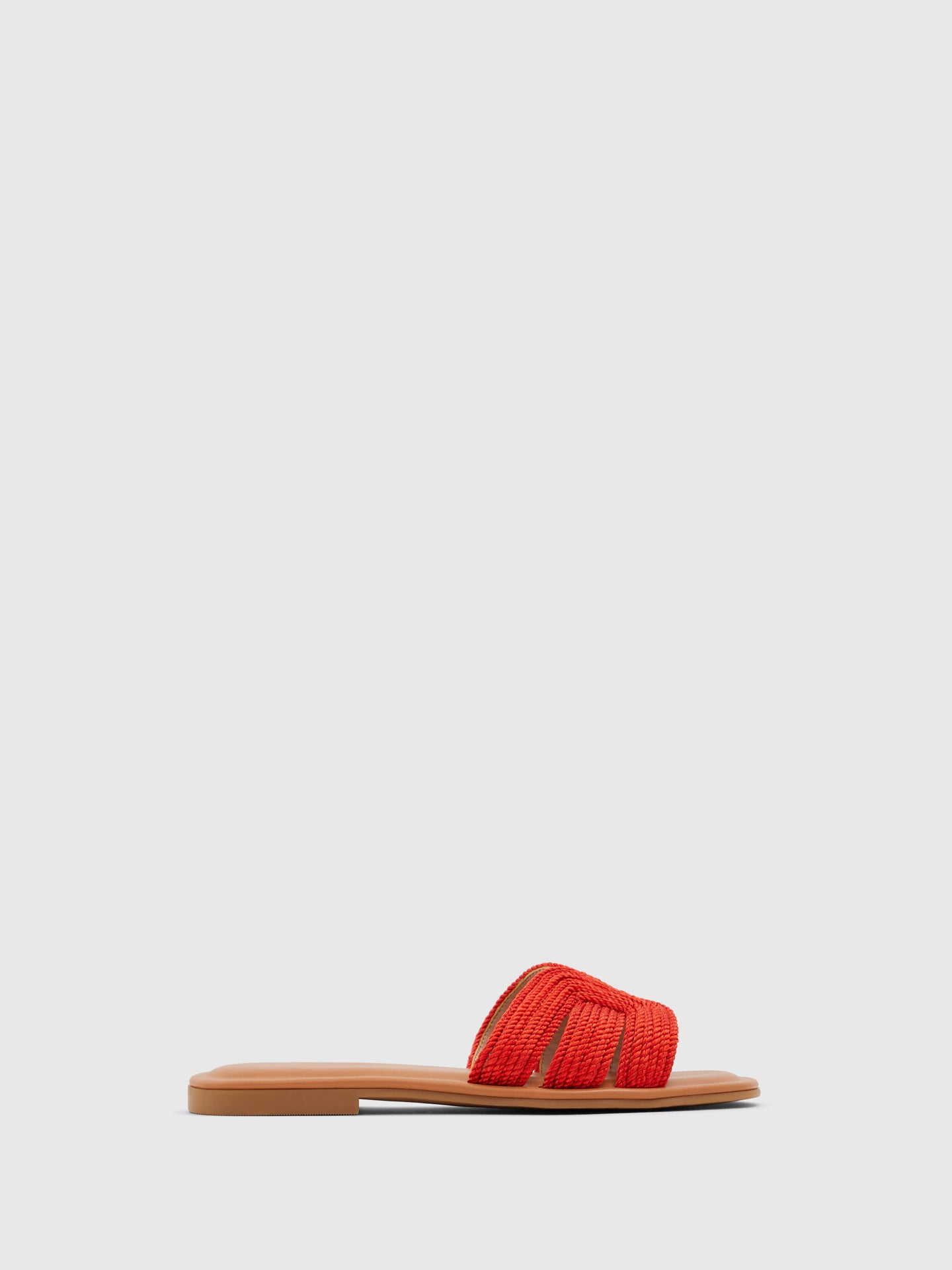 Aldo Red Open Toe Mules