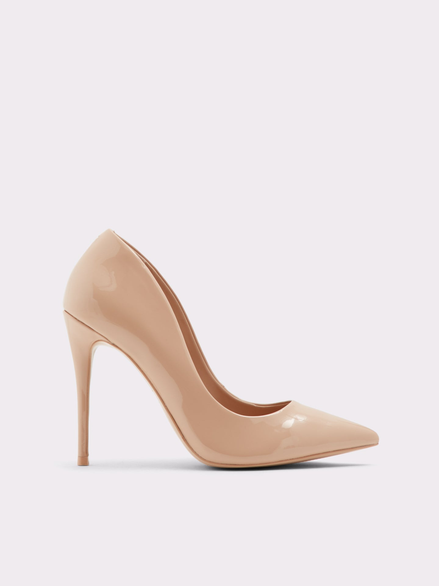 Aldo Gloss Beige Pointed Toe Shoes