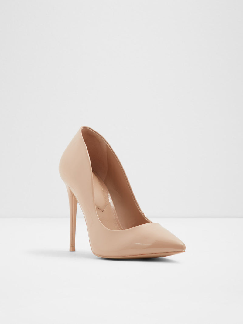 Gloss Beige Pointed Toe Shoes