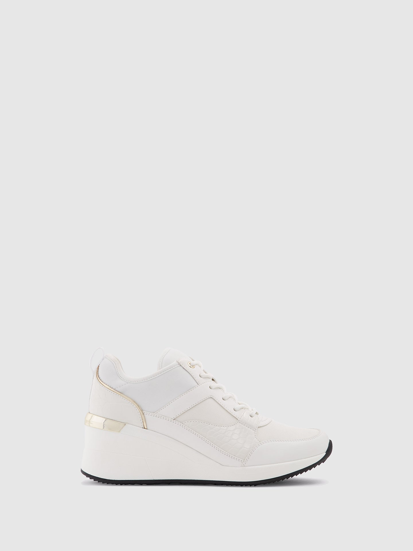 Aldo White Wedge Trainers