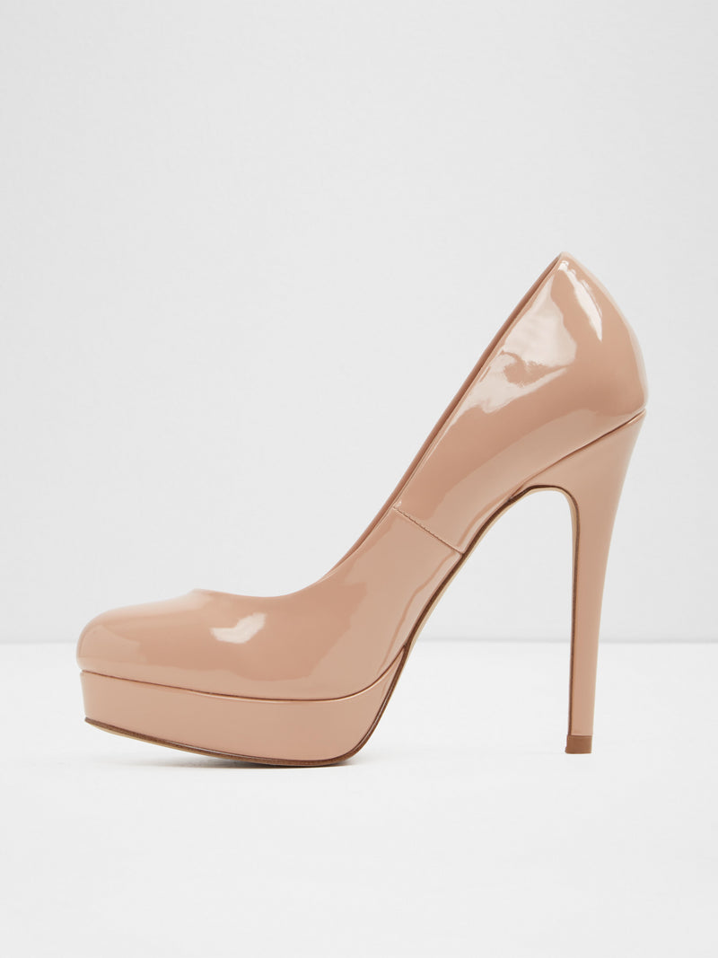 Aldo Beige Round Toe Pumps