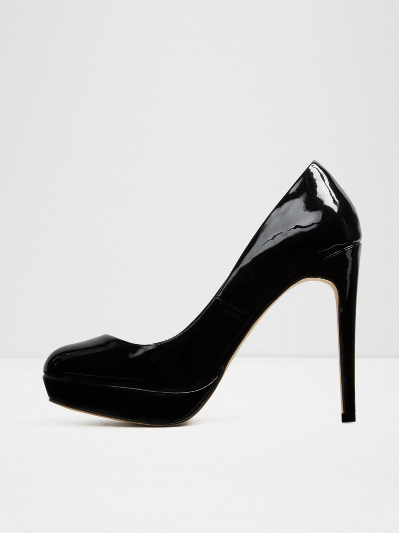 Aldo Black Round Toe Pumps