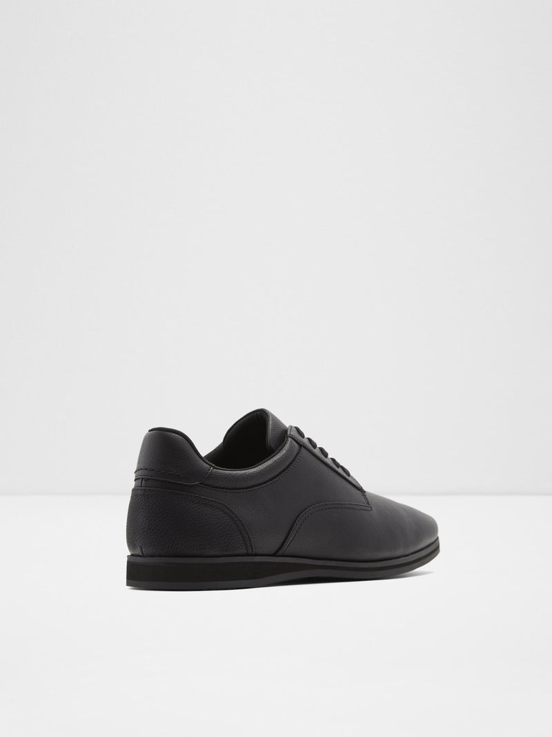 Aldo Matte Black Lace-up Trainers