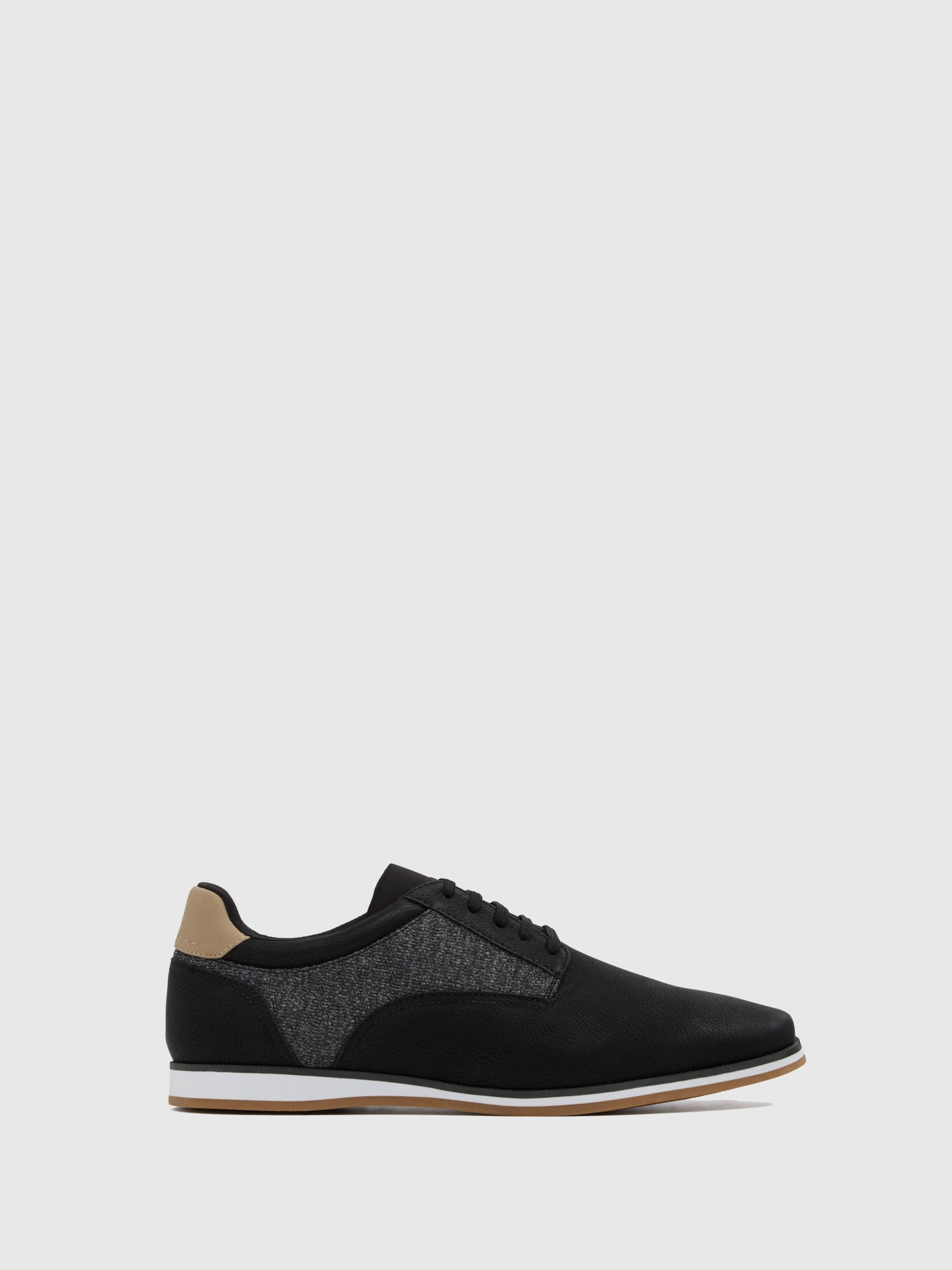 Aldo Gray Black Lace-up Trainers