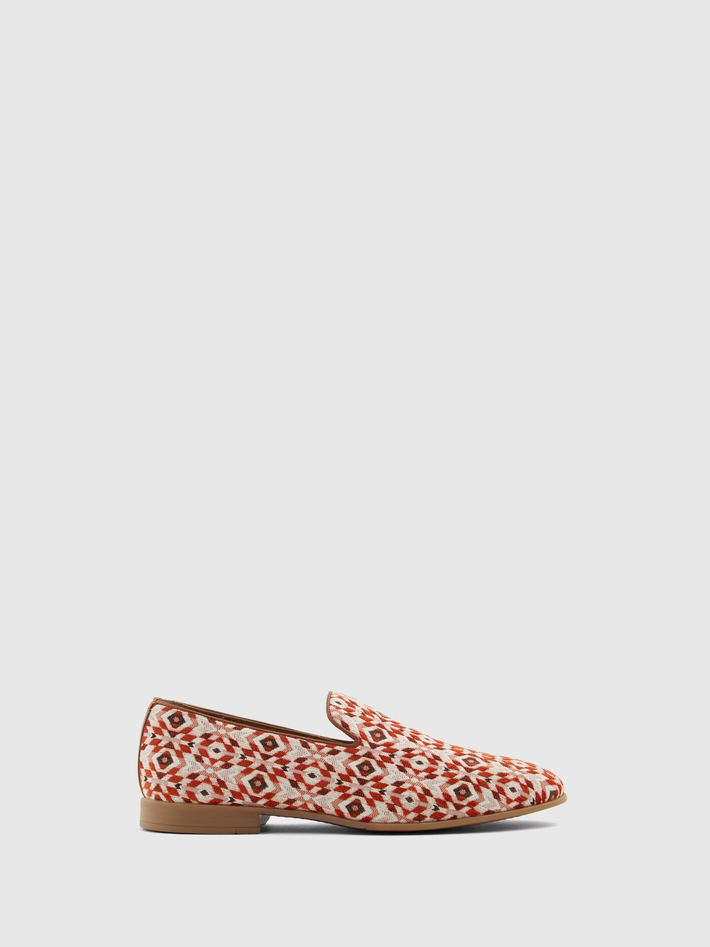 Aldo Red White Loafers Shoes