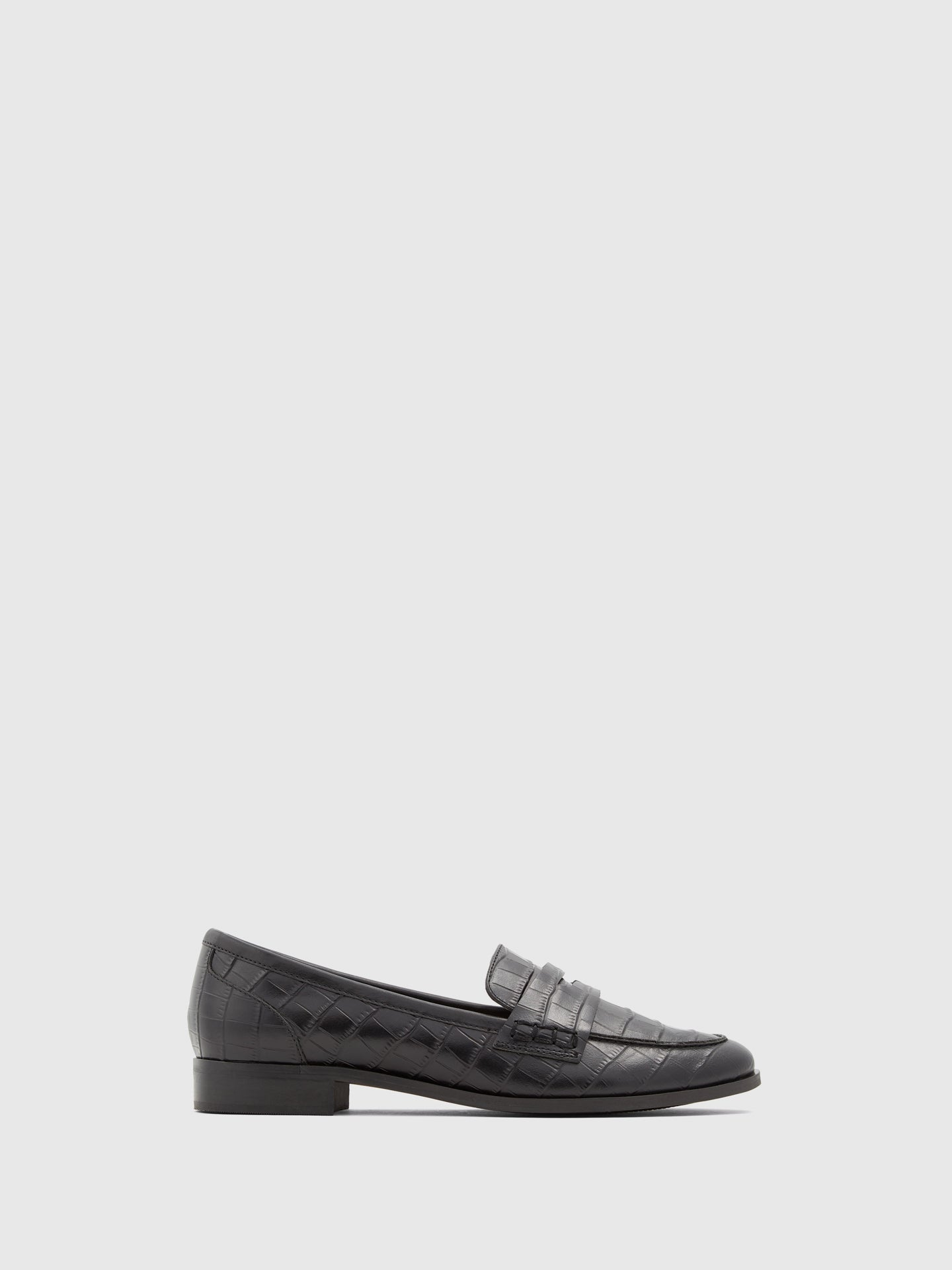 Aldo Gloss Black Loafers Shoes