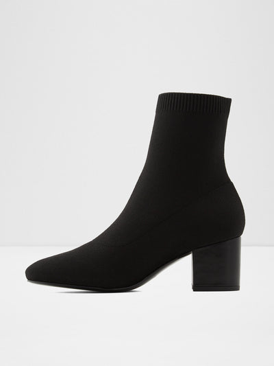 Aldo Black Sock Ankle Boots