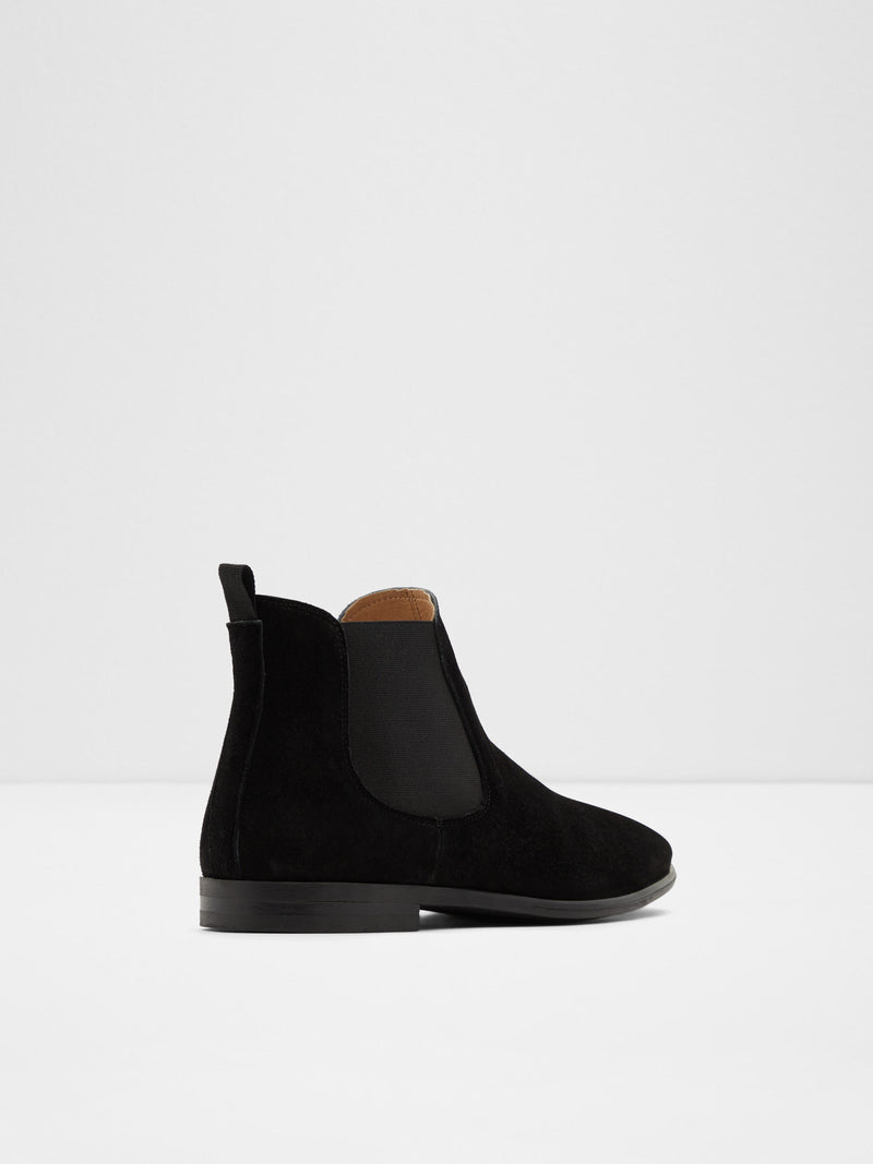 Aldo Black Suede Chelsea Ankle Boots
