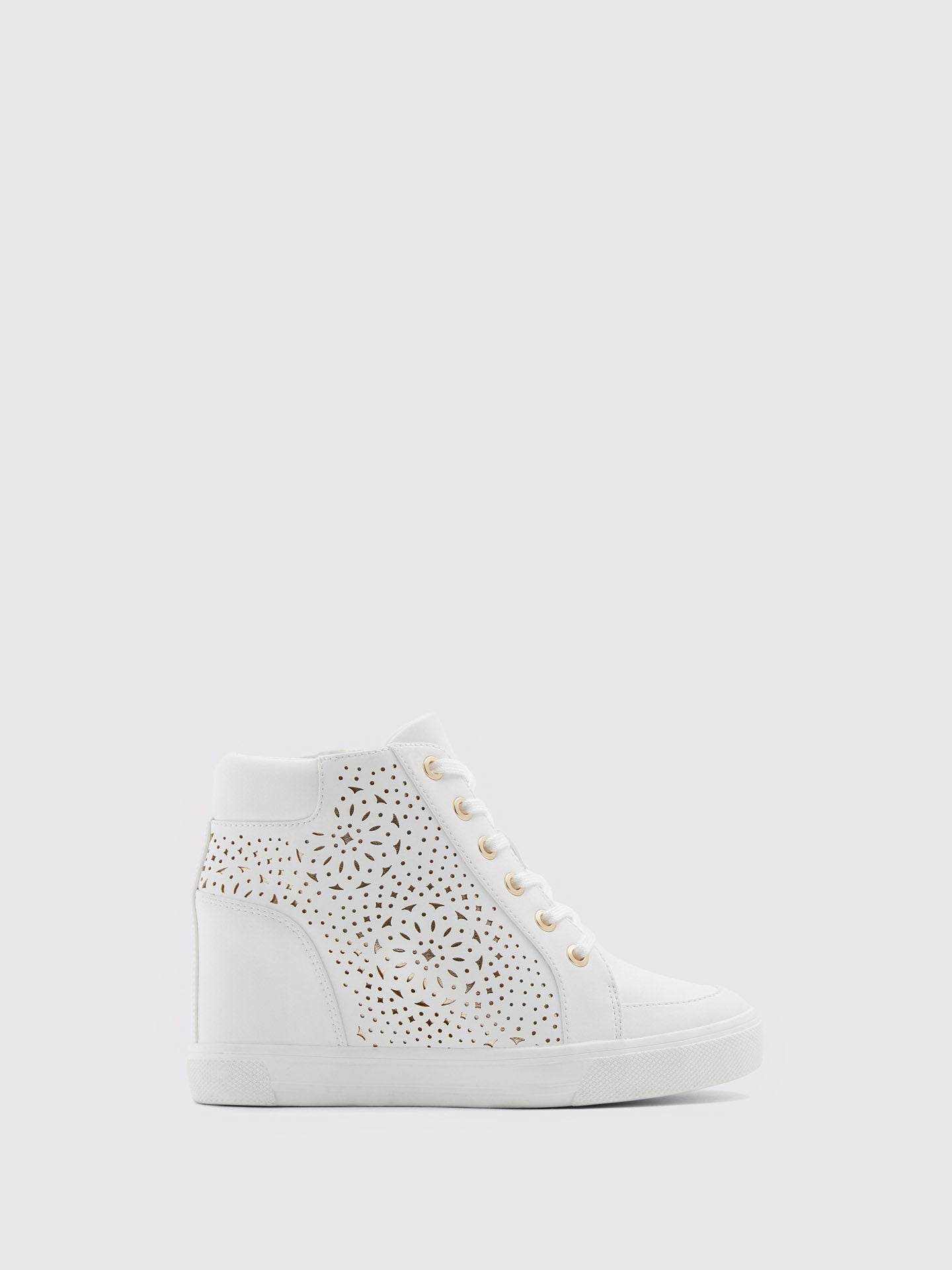 Aldo White Hi-Top Trainers