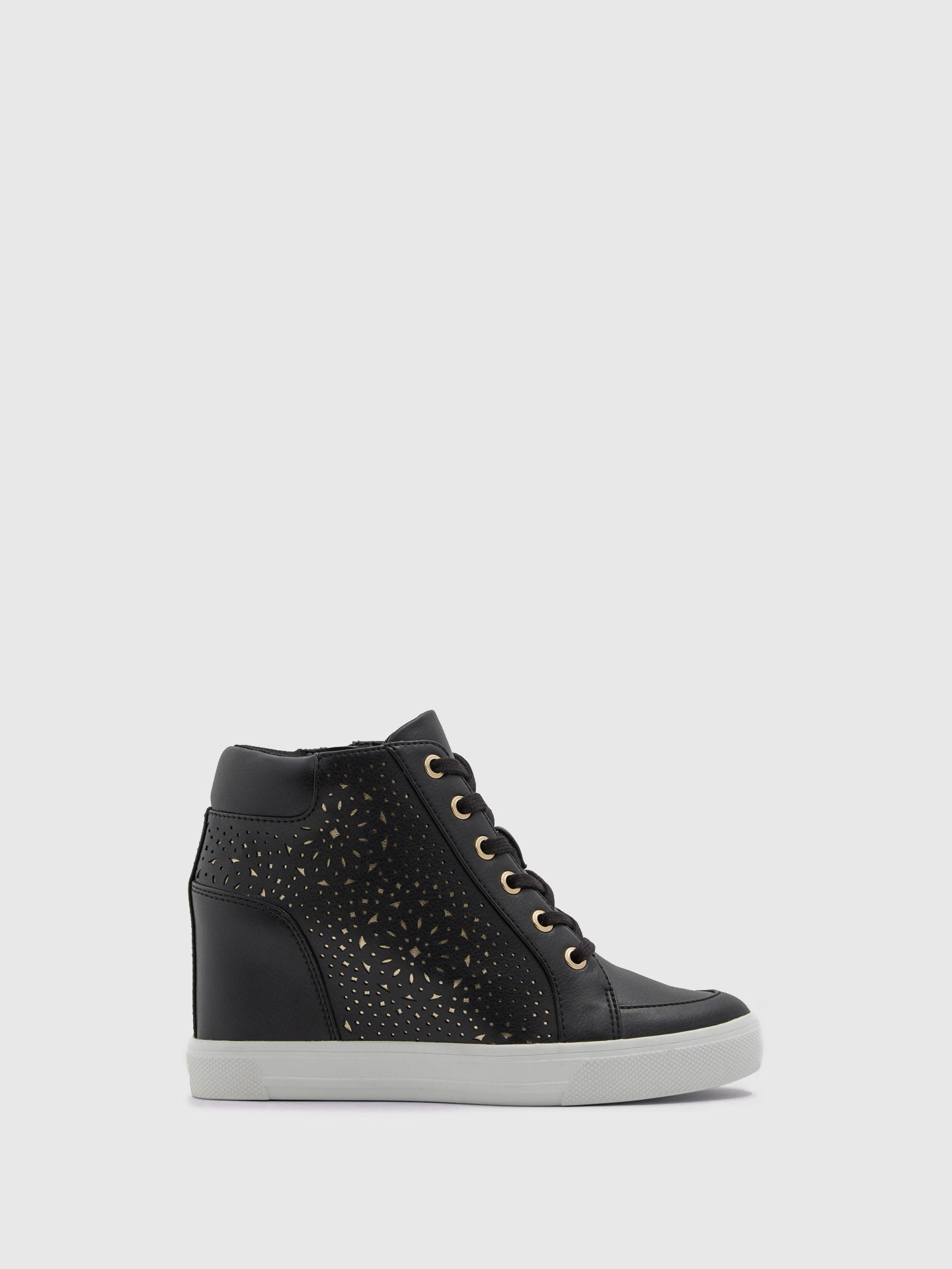 Aldo Black Hi-Top Trainers