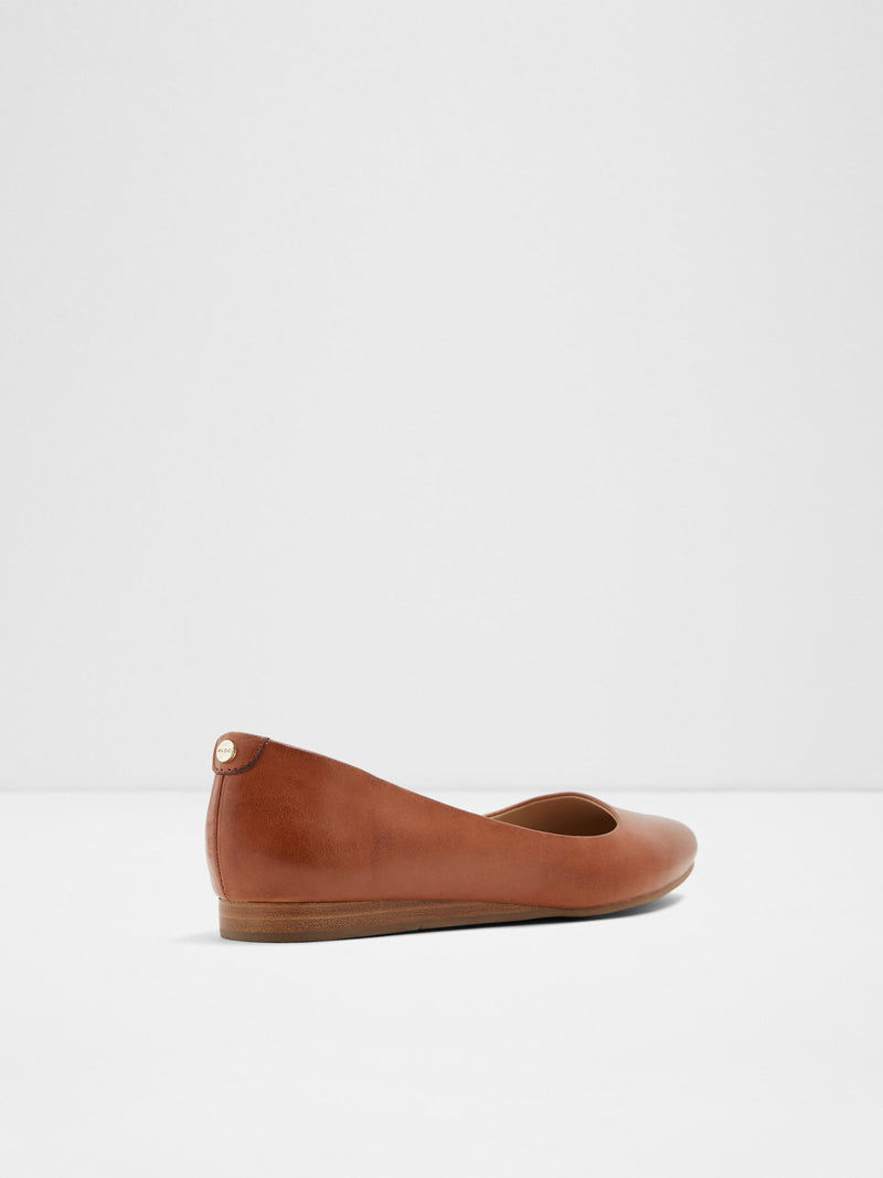 Brown Pointed Toe Ballerinas