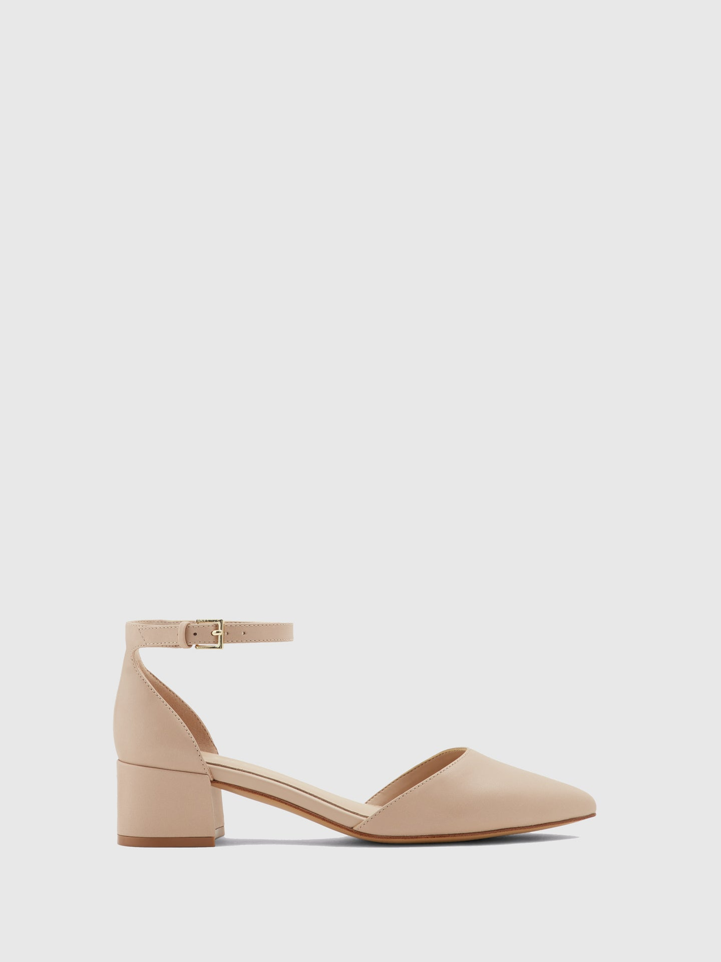 Aldo Wheat Ankle Strap Shoes
