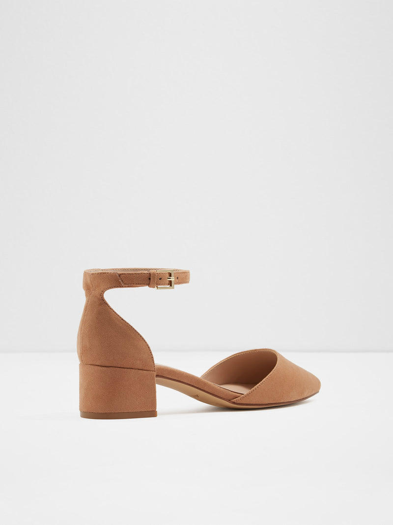 Beige Ankle Strap Shoes